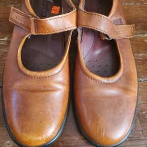 Ecco brown Mary Jane shoes size 38